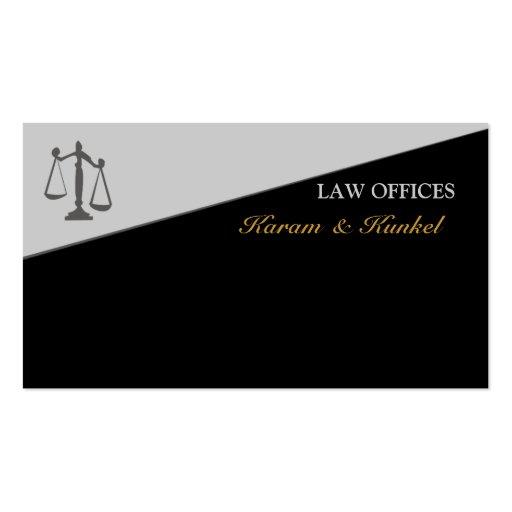 Escala de justiça do advogado legal modelo cartão de visita