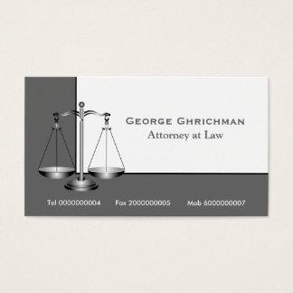 Escala do advogado do cartão de visita de justiça
