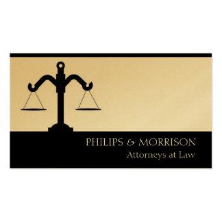 Escala do escritório da empresa de advocacia do co modelo cartões de visitas