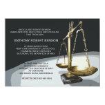Escala do ouro de justiça, graduação Invit da Convites Personalizados