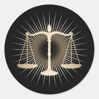 Escala do ouro do advogado do advogado da lei adesivo