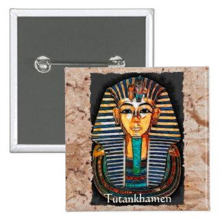 Escala egípcia do presente do faraó de TUTANKHAMEN Bóton Quadrado 5.08cm