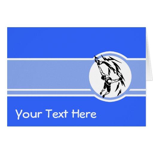 Escalada; Azul Cartao