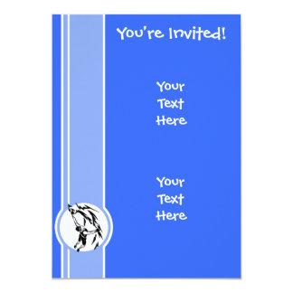 Escalada; Azul Convite Personalizados