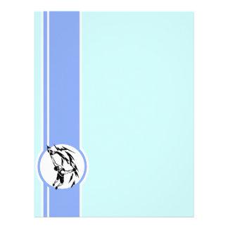 Escalada Azul Modelo De Papel De Carta
