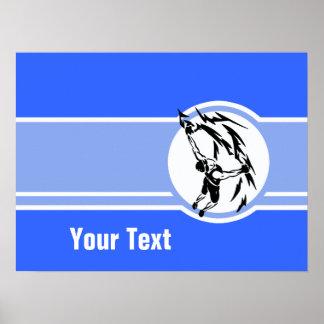 Escalada; Azul Poster
