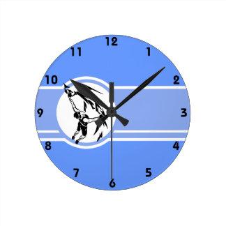 Escalada; Azul Relógios De Pendurar