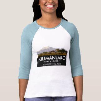Escalada do Mt Kilimanjaro do costume comemorativa Tshirts
