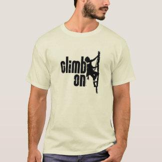 Escalada sobre camiseta