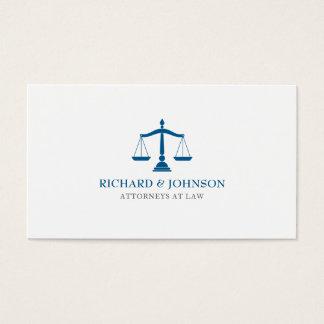 Escalas azuis da empresa de advocacia do cartão de visitas