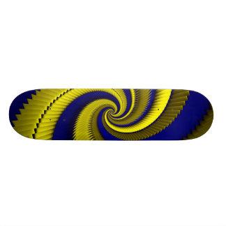Escalas azuis do dragão da espiral do ouro shape de skate 18,4cm