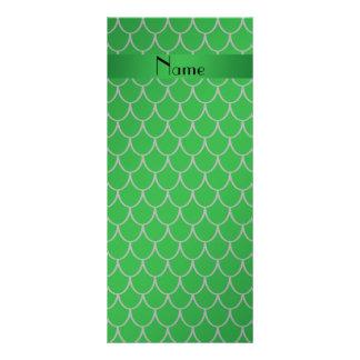 Escalas conhecidas personalizadas do dragão verde 10.16 x 22.86cm panfleto