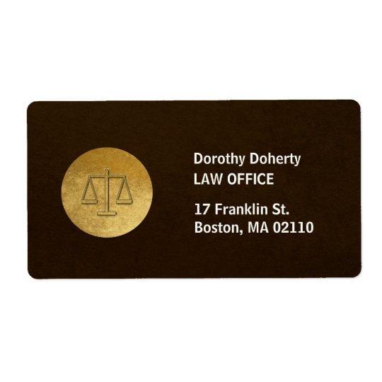 Escalas da empresa de advocacia de justiça | etiqueta de frete
