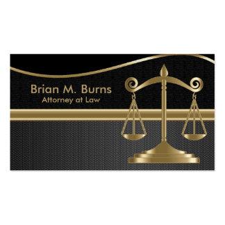 Escalas da lei | do advogado de justiça | cartão de visita