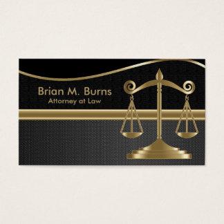 Escalas da lei | do advogado de justiça | - ouro e cartão de visitas