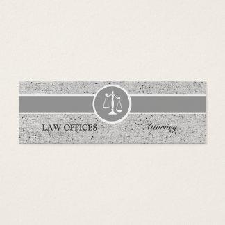 Escalas de justiça do advogado cartão de visitas mini