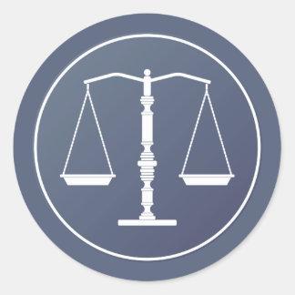 Escalas de justiça - etiqueta quadrada adesivo