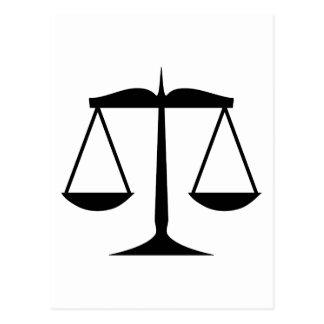Escalas de justiça (lei) cartão postal