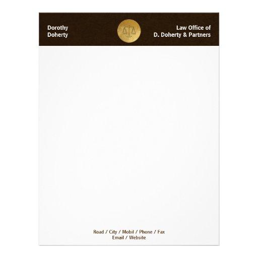 Escalas do cabeçalho do ESCRITÓRIO DE ADVOGADOS de Papéis De Carta Personalizados