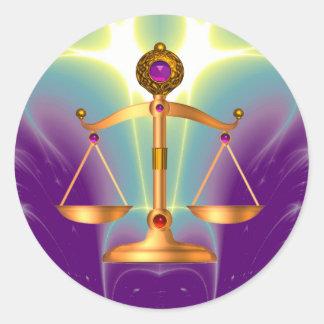 ESCALAS do OURO da LEI COM PEDRAS de GEMA, símbolo Adesivo
