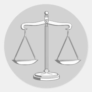 Escalas elegantes da lei de justiça | adesivo