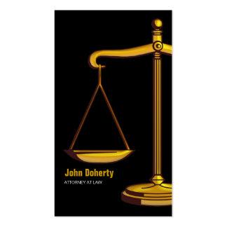 Escalas elegantes do advogado | de justiça cartão de visita