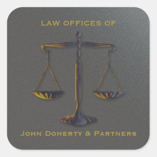 Escalas originais do advogado de justiça | na lei adesivo quadrado