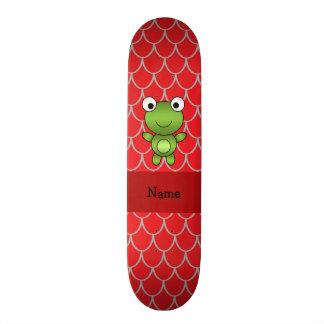 Escalas vermelhas personalizadas do dragão do sapo shape de skate 21,6cm
