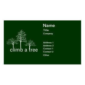 Escale um design da árvore cartao de visita
