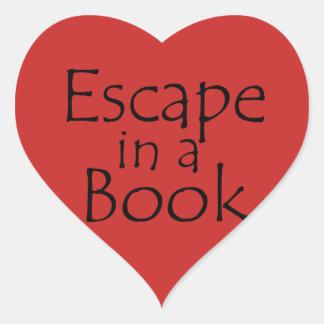Escape em uma etiqueta temático do livro