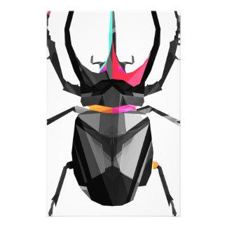 Escaravelho geométrico papelaria