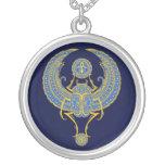 Escaravelho voado egípcio, azul bijuteria personalizada