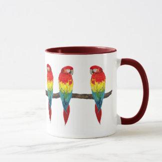Escarlate da caneca do Macaw