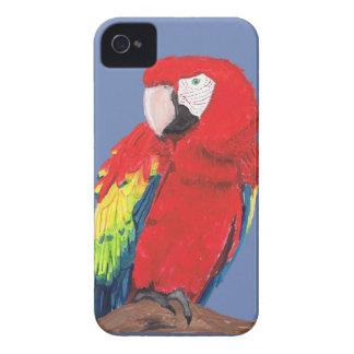 Escarlate da capa de telefone do Macaw