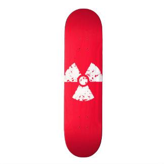 Escarlate do símbolo radioativo tóxico vermelho shape de skate 20cm