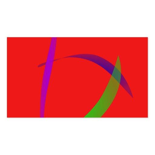 Escarlate independente da arte abstracta cartões de visita