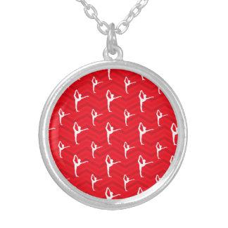 Escarlate vermelho branco Chevron dançarino de