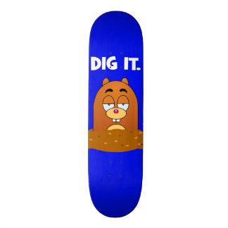 Escavação engraçada da toupeira dos desenhos shape de skate 18,1cm