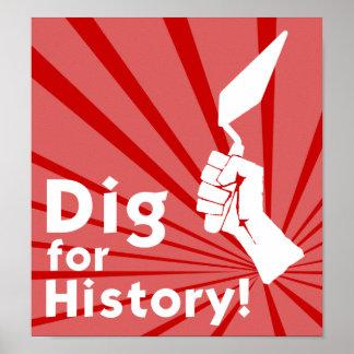 Escavação para a história! Poster Pôster