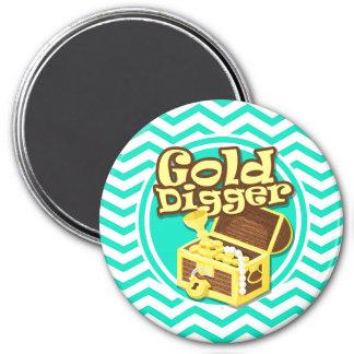 Escavador de ouro Aqua Chevron verde Imãs
