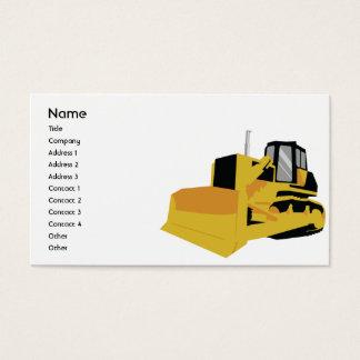 Escavadora - negócio cartão de visitas