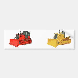 Escavadora vermelha grande adesivo para carro