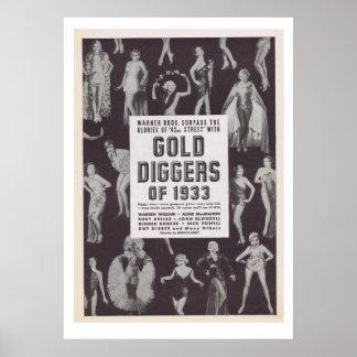 Escavadores de ouro de 1933 poster