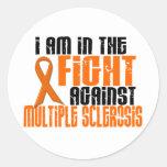 Esclerose múltipla do MS na LUTA 1 Adesivos Em Formato Redondos