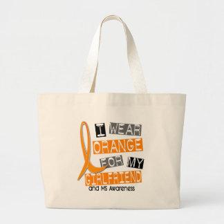 Esclerose múltipla eu visto a laranja para meu sacola tote jumbo