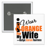 Esclerose múltipla eu visto a laranja para minha e botons