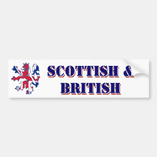 Escocês e britânico orgulhosos adesivo para carro
