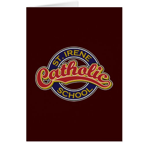 Escola católica do St. Irene Cartoes