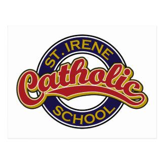 Escola católica do St. Irene Cartão Postal