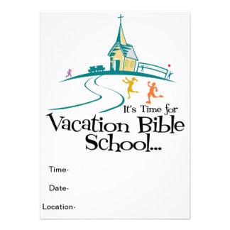 Escola da bíblia das férias convite personalizado